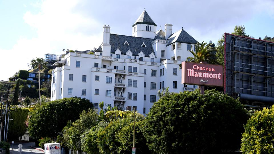 Celebrity Culture: Well-known Chateau Marmont Hotel in West Hollywood