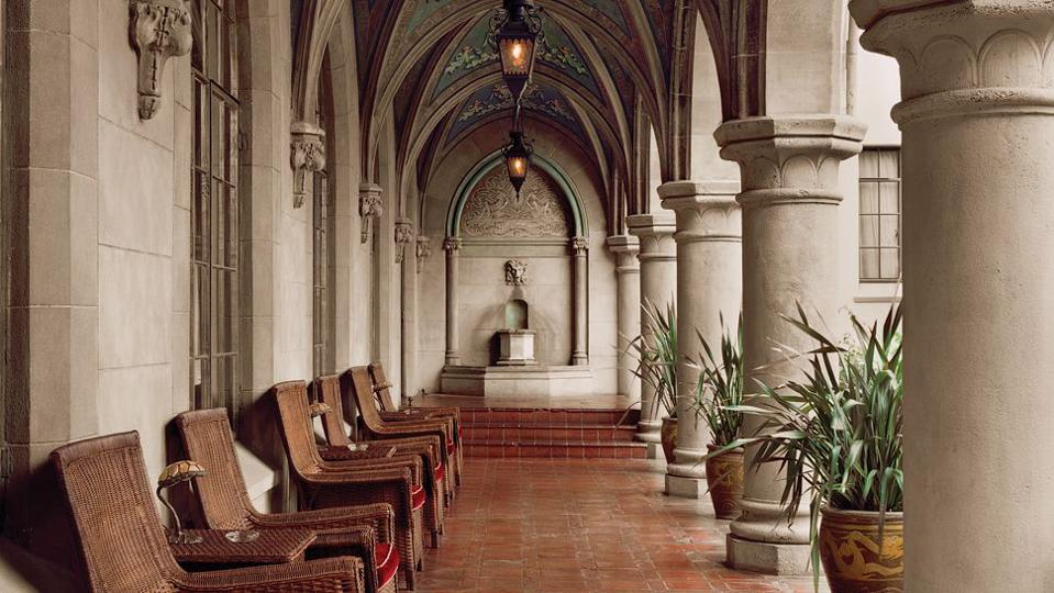 Celebrity Culture: The cloisters adjoining to the surface cafe