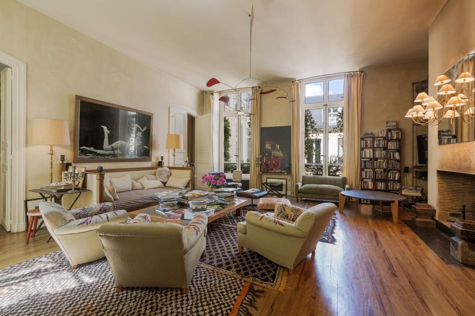 Grands-Augustins, Paris, living room, Emile Garcin, mansion, Peter Lindbergh, Picasso
