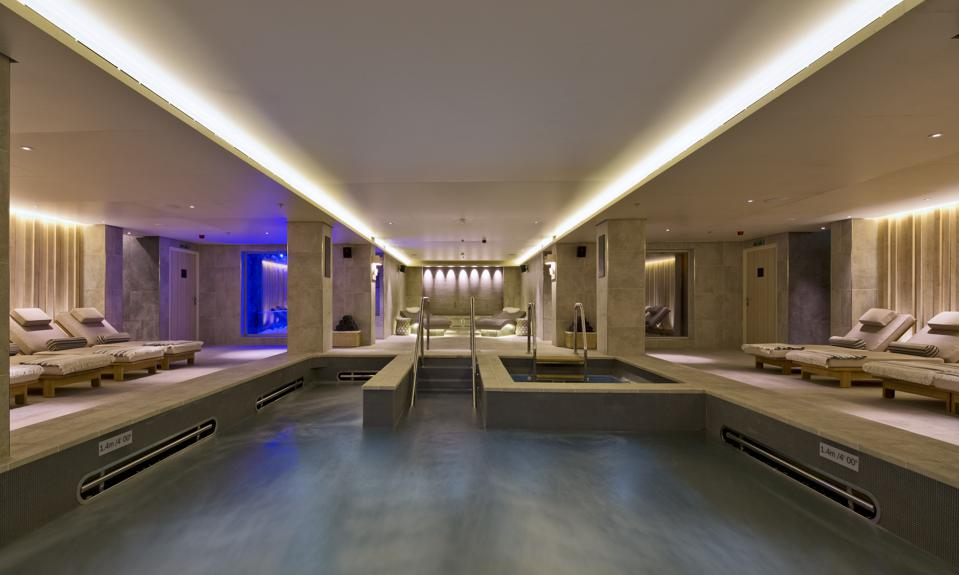 A spa on a luxury cruise ship
