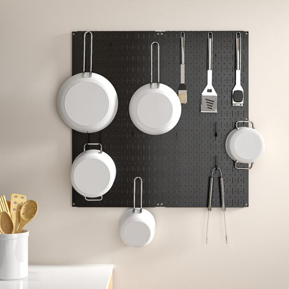 Dotted Lines Kitchen Organizer Pots & Pans Pegboard Pack