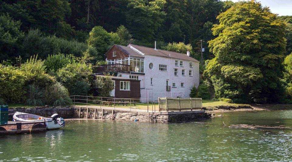 The Sawmills Studio lies in this idyllic creekside home near Fowey, Cornwall