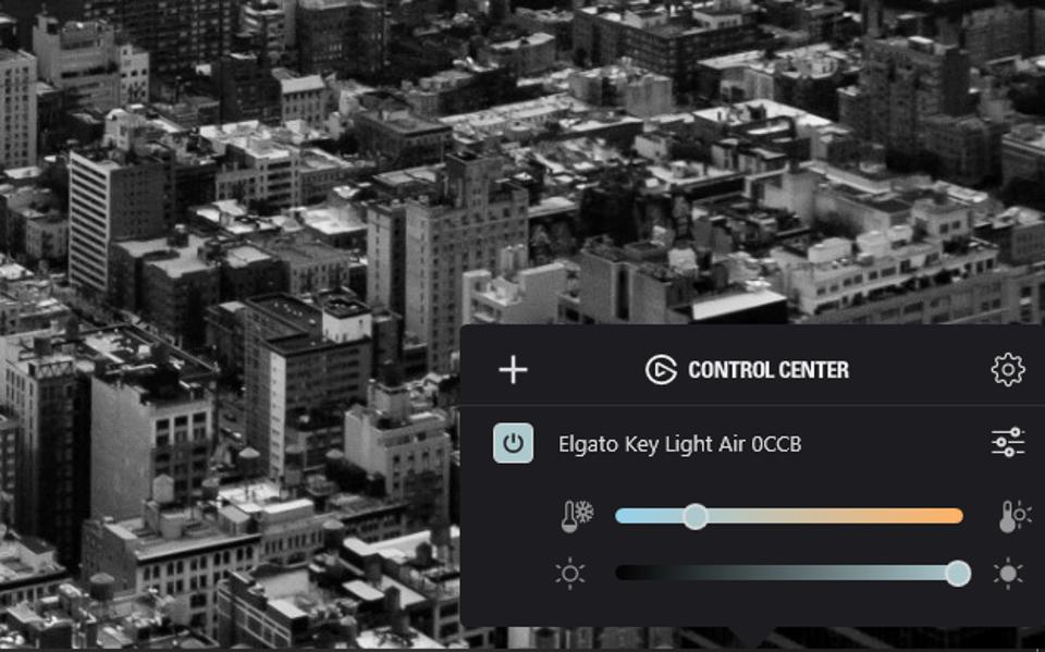 Key Light Air può essere controllato dallo smartphone o dal desktop con i controlli di luminosità e temperatura colore disponibili