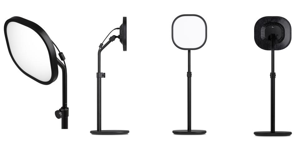 Ogni Elgato Key Light Air utilizza un cavo di alimentazione per l'illuminazione, ma questo può essere legato al supporto e nascosto per tenerlo fuori dalla vista.