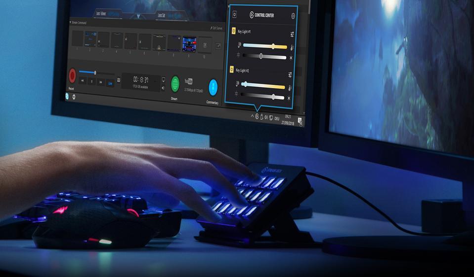 Key Light Air è compatibile con Elgato Stream Desk