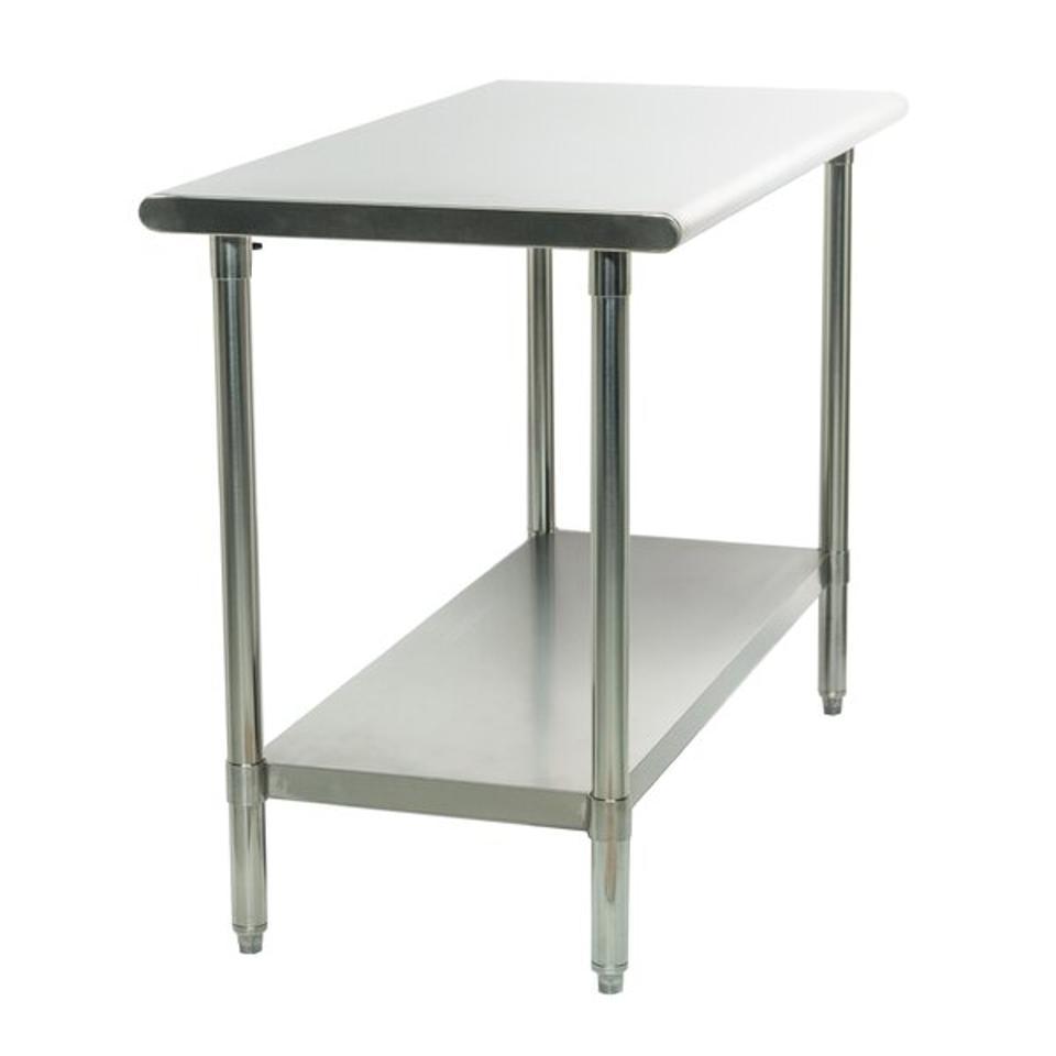Rebrilliant Adjustable Shelf Height Stainless Steel Top Workbench