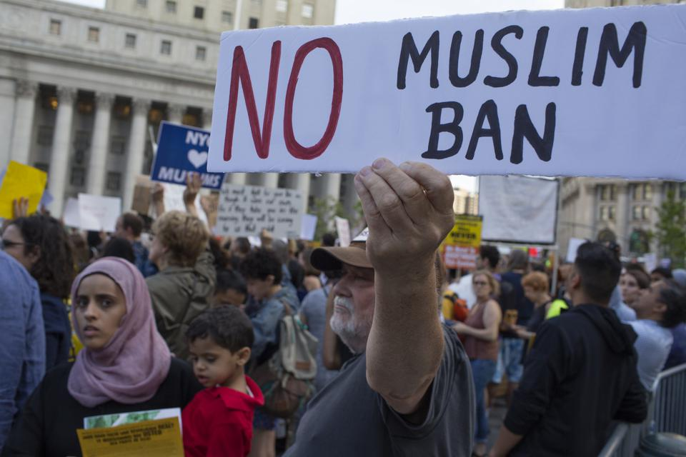 Demonstration Against Supreme Court Decision To Uphold Travel Ban