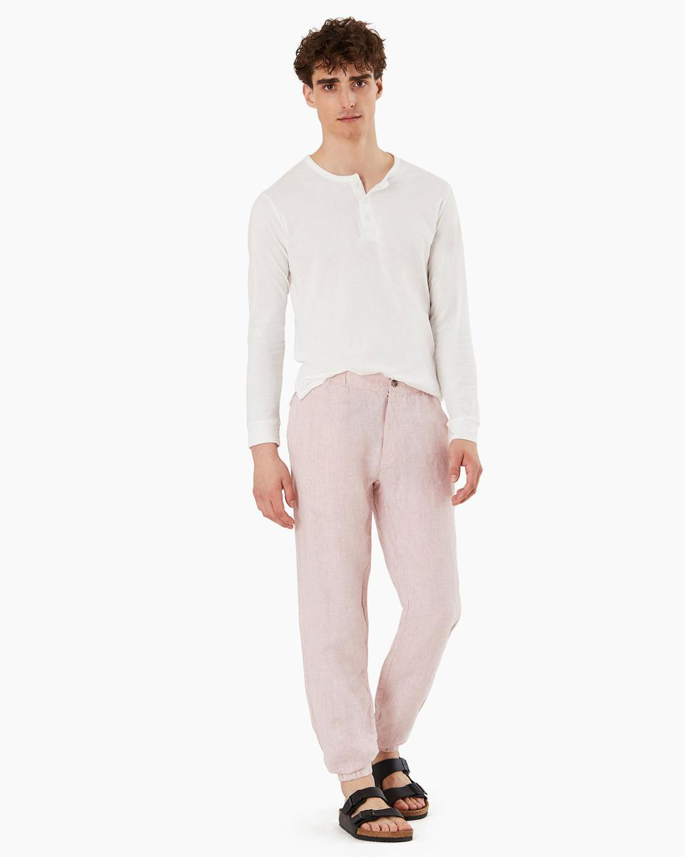 Onia Elijah Linen Pant in the shade Evening Sand