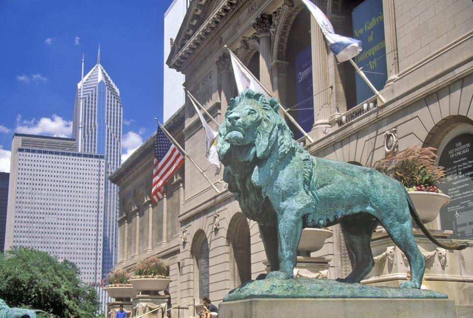 ″Entrance to the Art Institute of Chicago Museum, Chicago, Illinois″