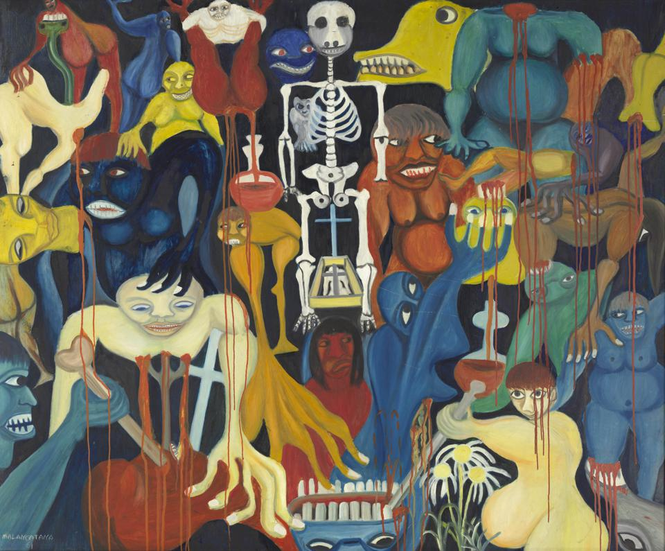 Malangatana Ngwenya. The Fountain of Blood (A fonte de sangue), 1961. The Cleveland Museum of Art, Gift of Dr. and Mrs. Lloyd H. Ellis Jr.