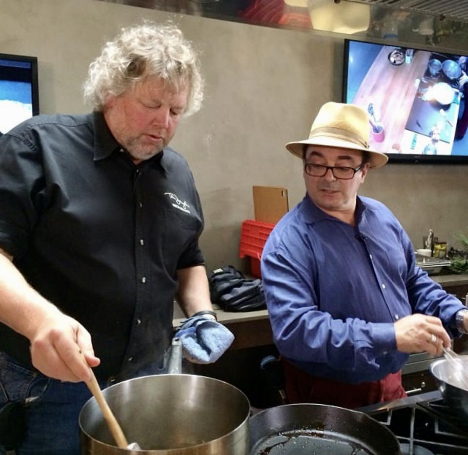 Tom Douglas and Thierry Rautureau are Seattle-based chefs and frequent collaborators.
