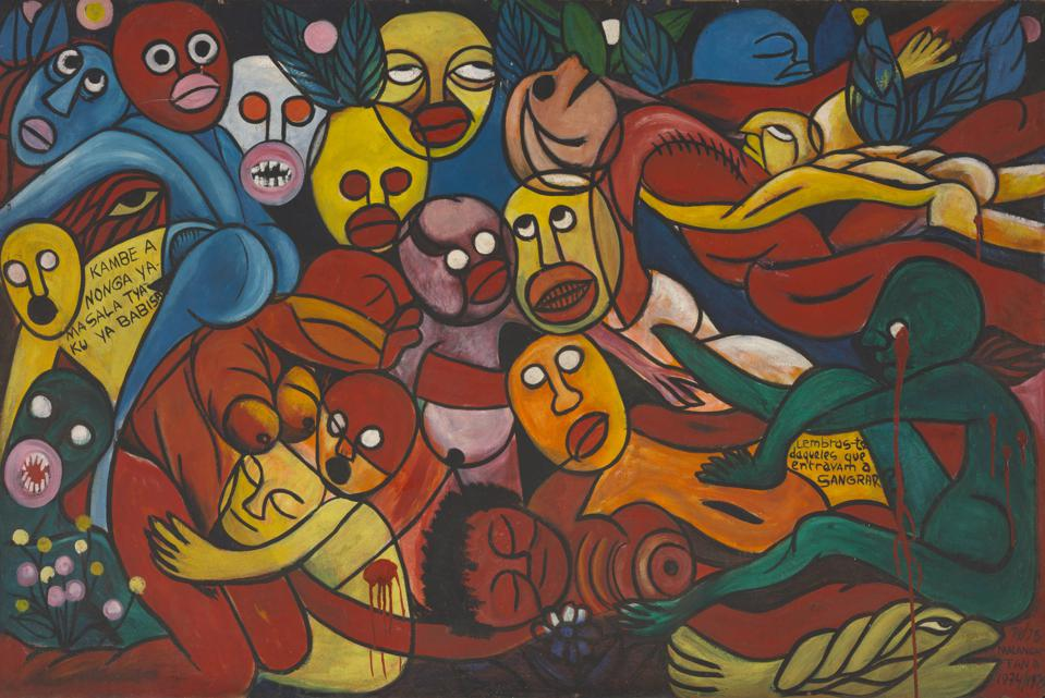 Malangatana Ngwenya. Do You Remember Those Who Entered Bleeding (Lembras-te daqueles que entravam a sangrar), 1974/75.