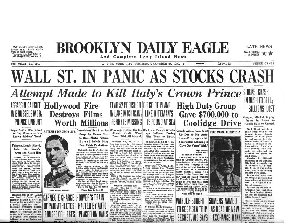 Headlines For Wall St. Crash