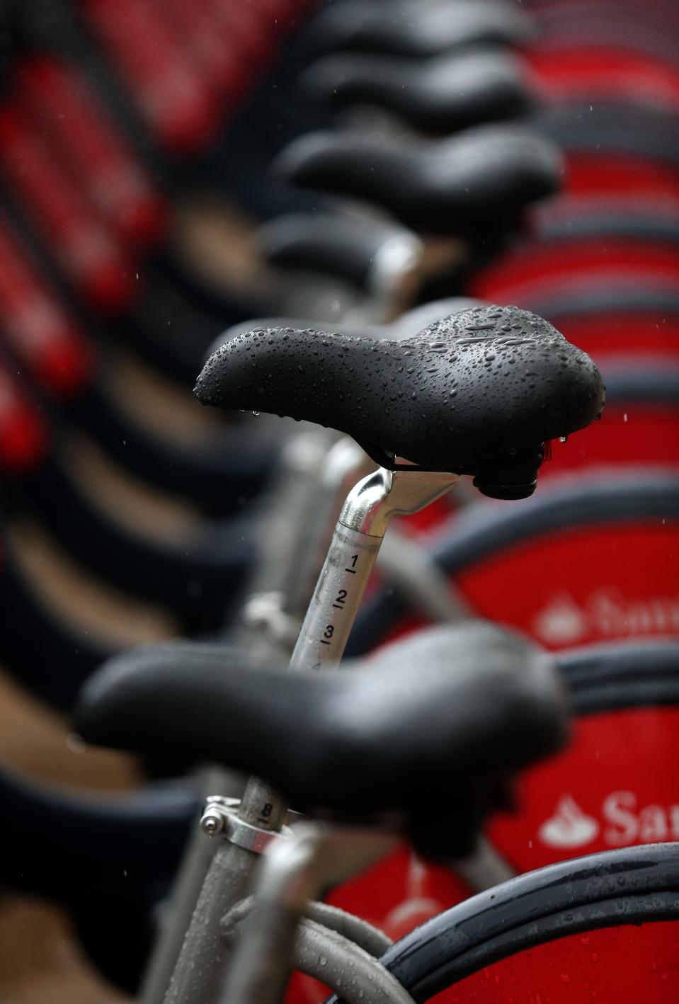 I cicli Santander sono guidabili anche sotto la pioggia.