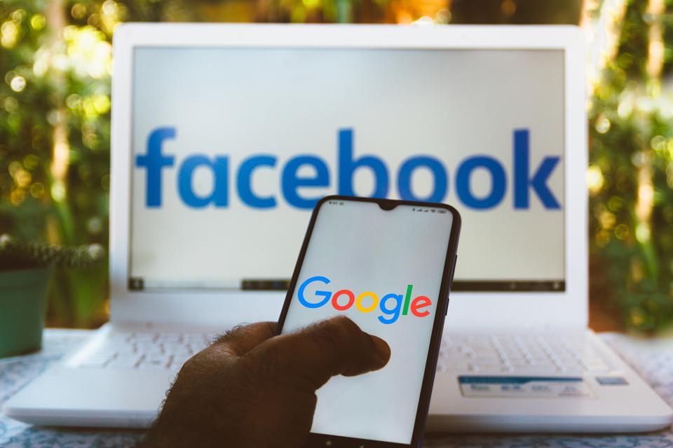 In the second quarter, Facebook reported 10% growth in ad revenue while Google's declined.