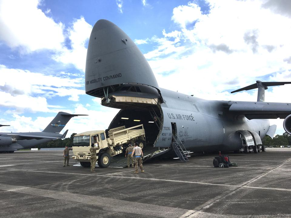 Loading cargo into the C-5.