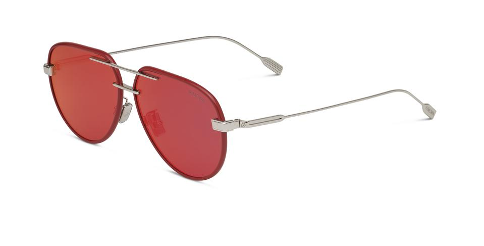 Red Mirrored Pilot Frame Designed in Germany, Made in Italy.