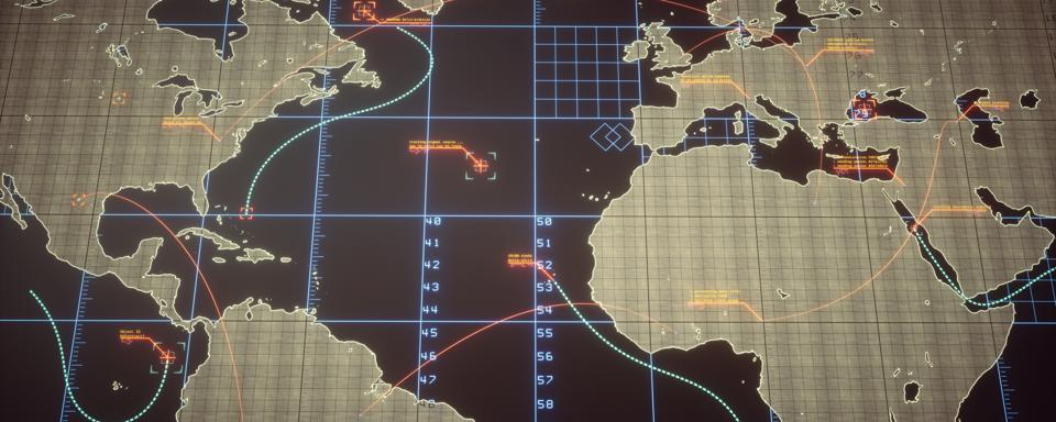 Strategic World Map With Infographics