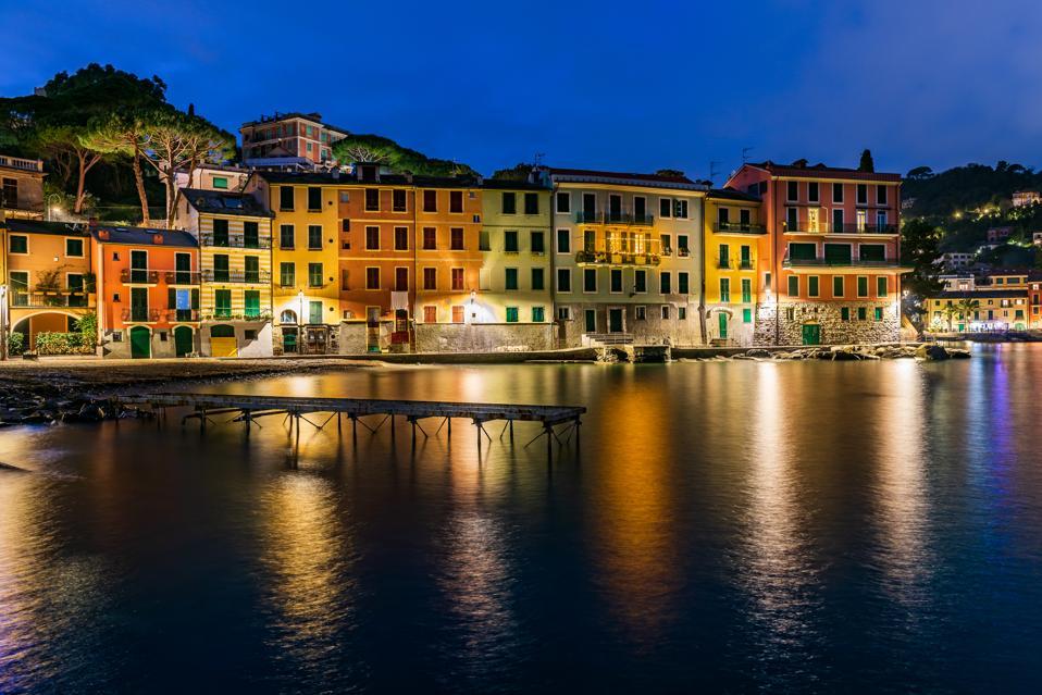 Nighttime in Italian Riviera
