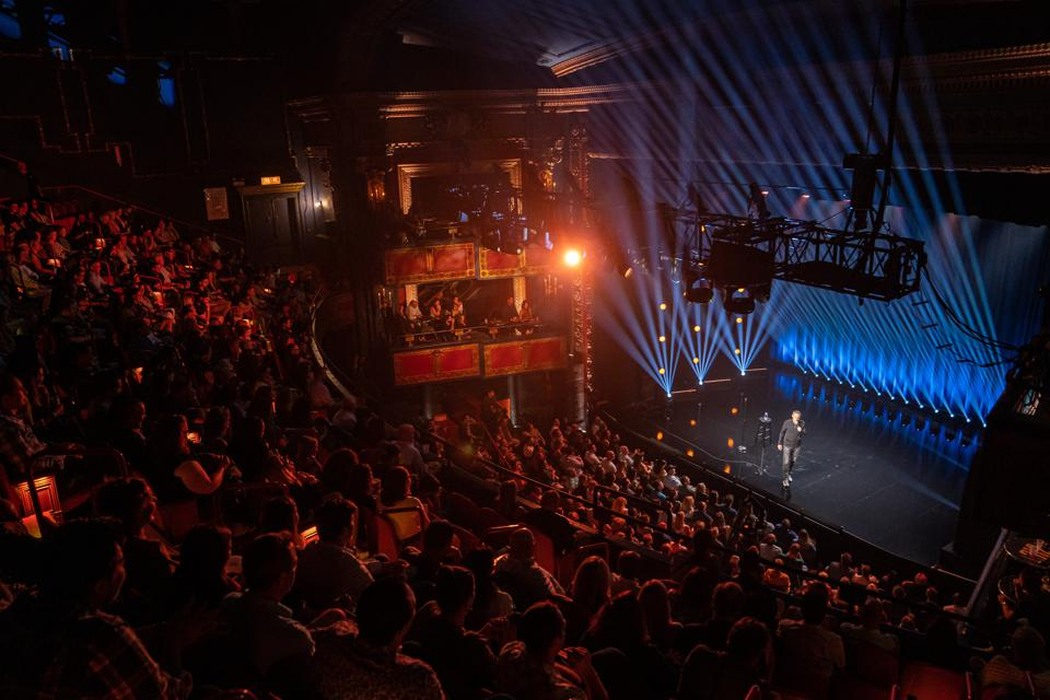 Chicago's Vic Theatre acts as setting for the Comedy Dynamics special 'Sebastian Maniscalco Presents Pat McGann When's Mom Gonna Be Home? September 2019 (Photo by Todd Rosenberg)