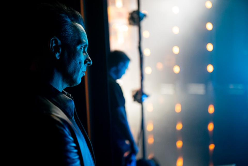 Comedian Sebastian Maniscalco looks on from the side of the stage at the Vic Theatre during the recording of the Comedy Dynamics special 'Sebastian Maniscalco Presents Pat McGann When's Mom Gonna Be Home?' September 2019 in Chicago, IL (Photo by Todd Rosenberg)
