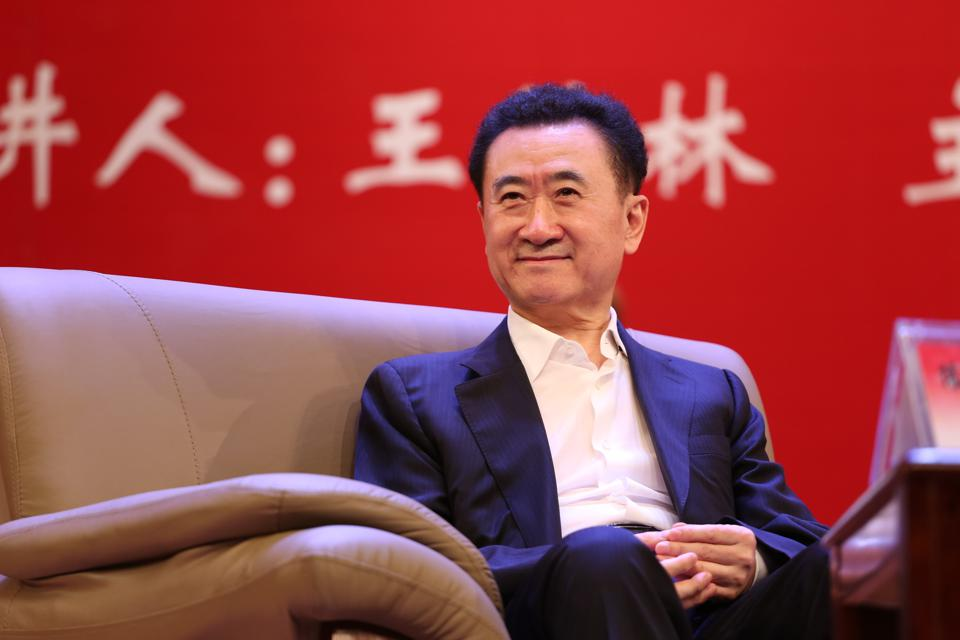 Wang Jianlin Makes Speech At China University Of Political Science And Law In Beijing