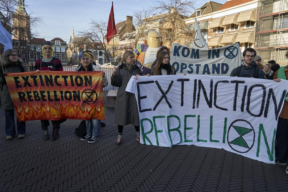 Extinction Rebellion Protest At Australian Embassy In The Hague