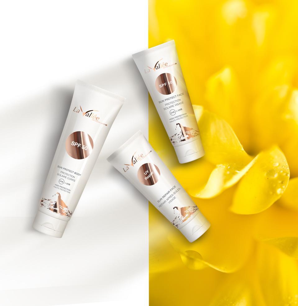 The new La Vallée Cosmetics suncare cream