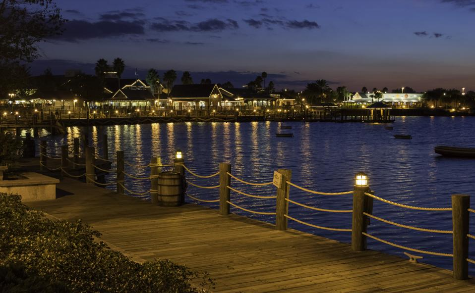 Harbor Lights and Boardwalk in The Villages, Florida