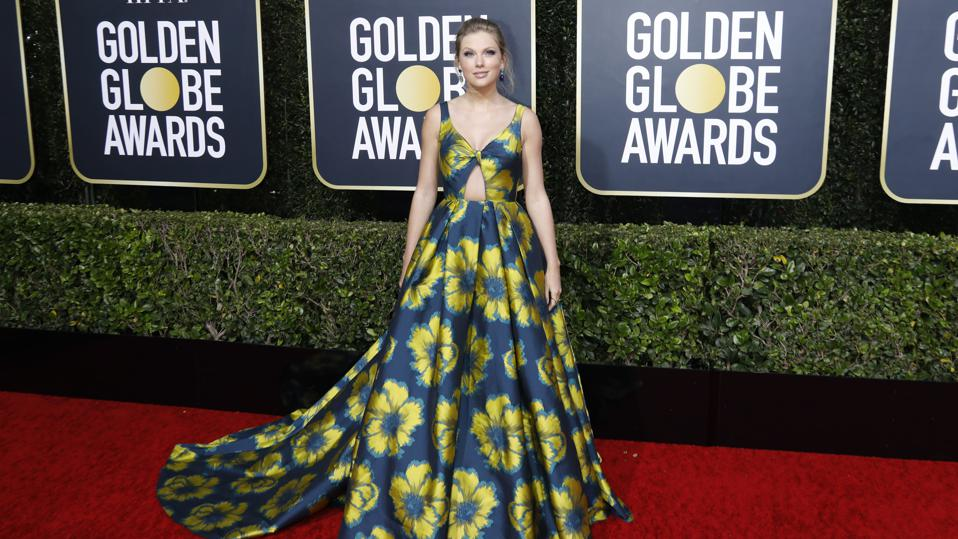 Taylor Swift photographed on the red carpet of the 77th Annual Golden Globe Awards at The Beverly Hilton Hotel on January 05, 2020 in Beverly Hills, California