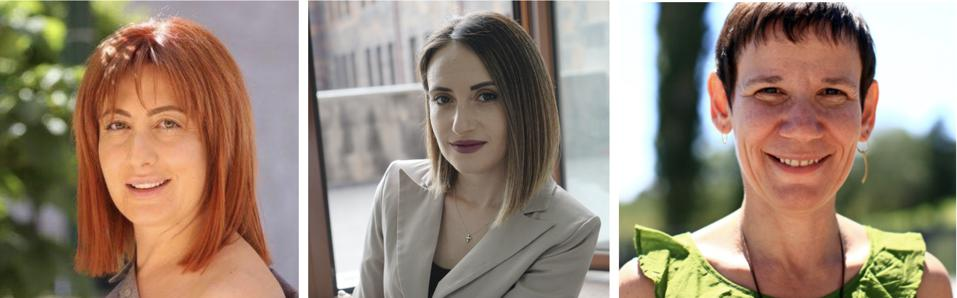 Three women - with Amalya Yeghoyan (Ex. Director, GITC),  Gayane Ghandilyan Arakelyan (CEO, Digital Pomegranate), Marie Lou Papazian (CEO, Tumo Center)