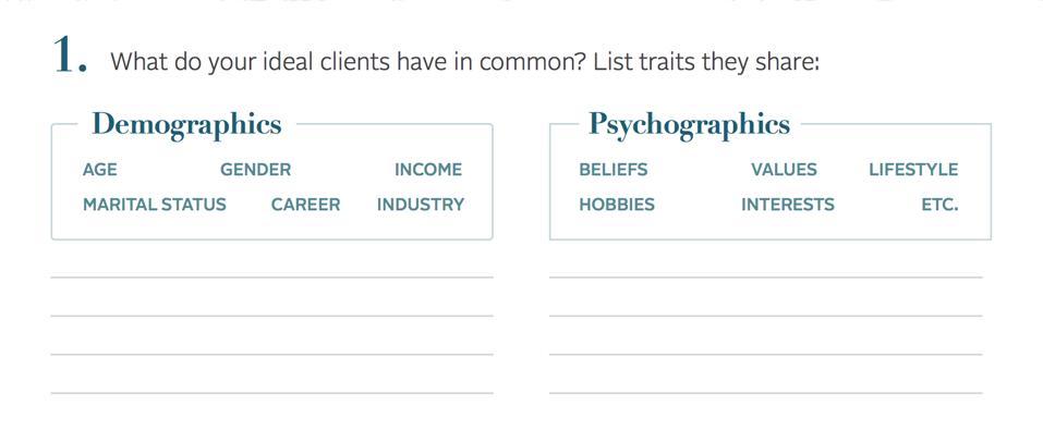 Demographics vs. Psychographics