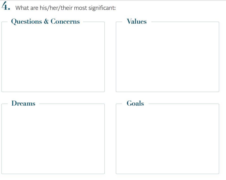 Values, Dreams, Goals