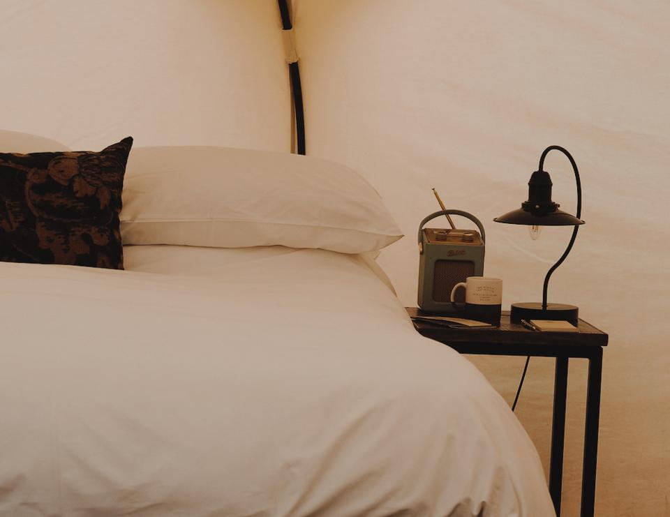 Bed in a tent