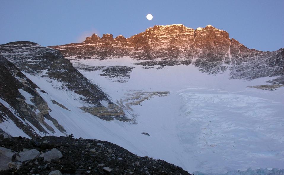 The mountain range of Mount Everest