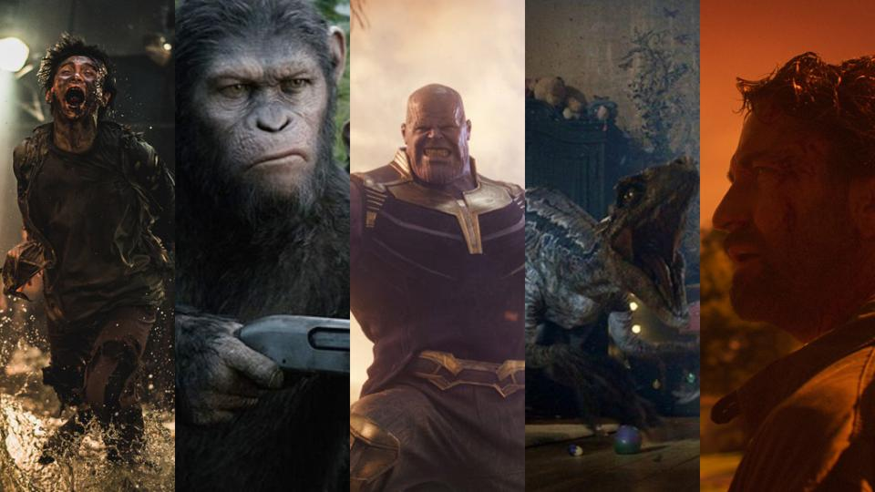 'Train to Besun presents Peninsula,' 'War for the Planet of the Apes,' 'Avengers: Infinity War,' 'Jurassic World: Fallen Kingdom' and 'Greenland'