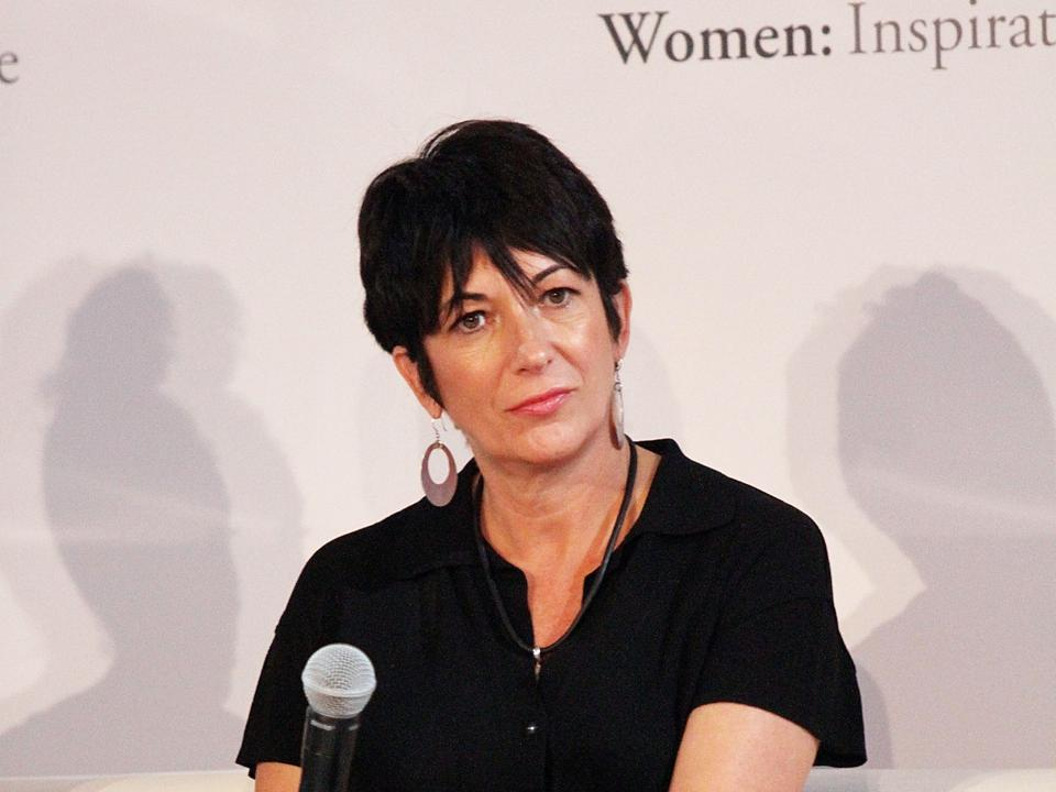 Ghislaine Maxwell speaks at the 4th Annual WIE Symposium at Center 548 on September 20, 2013 in New York City
