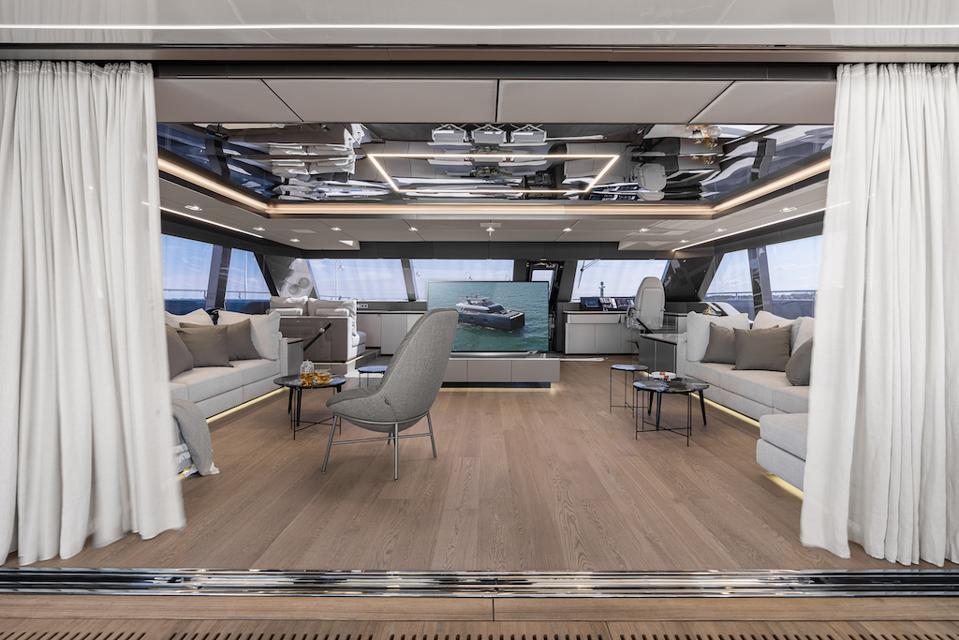 Exclusive photo of the interior of Rafael Nadal's new Sunreef 80 Catamaran.