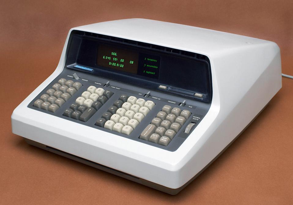 The HP 9100A was Hewlett Packard's first calculator, 1968