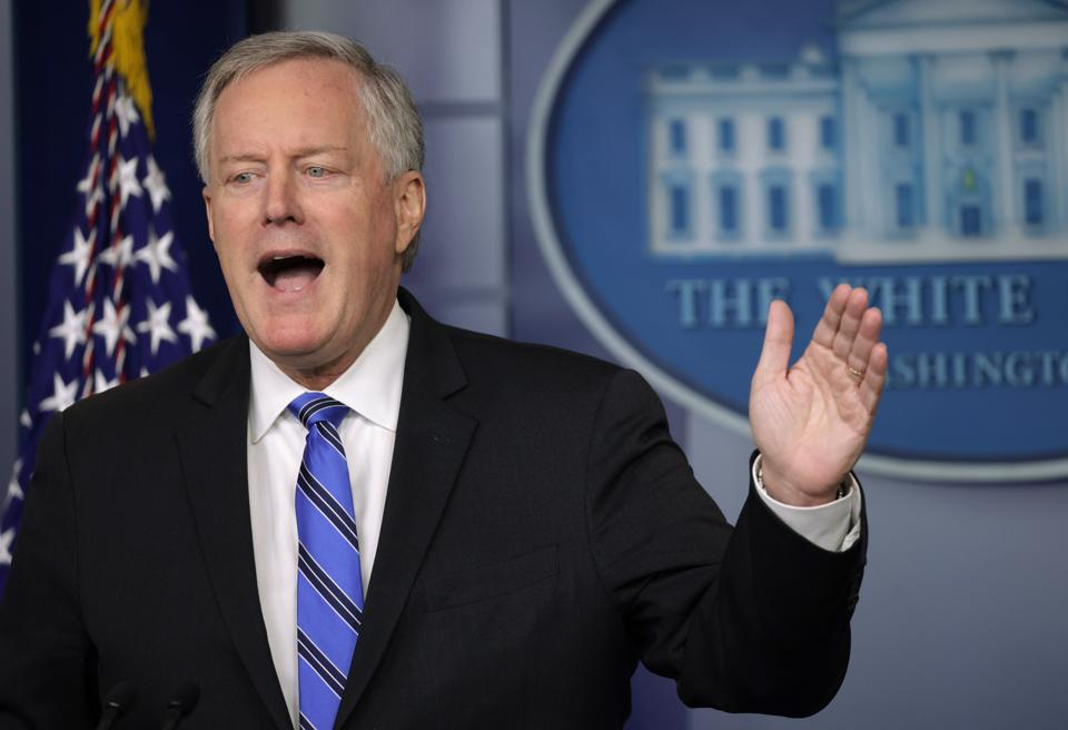 White House Chief of Staff Mark Meadows At White House