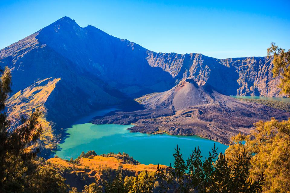 Panorama view of Mountain Rinjani of Indonesia
