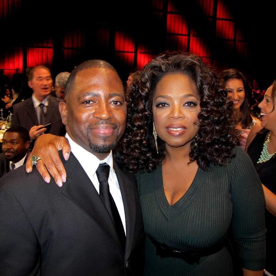 Wilson Morales and Oprah Winfrey