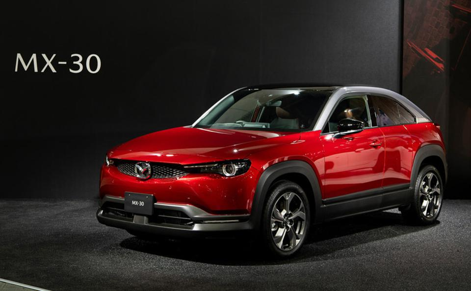 Mazda revealed MX-30 mild-hybrid version at the 2020 Automobile Council.