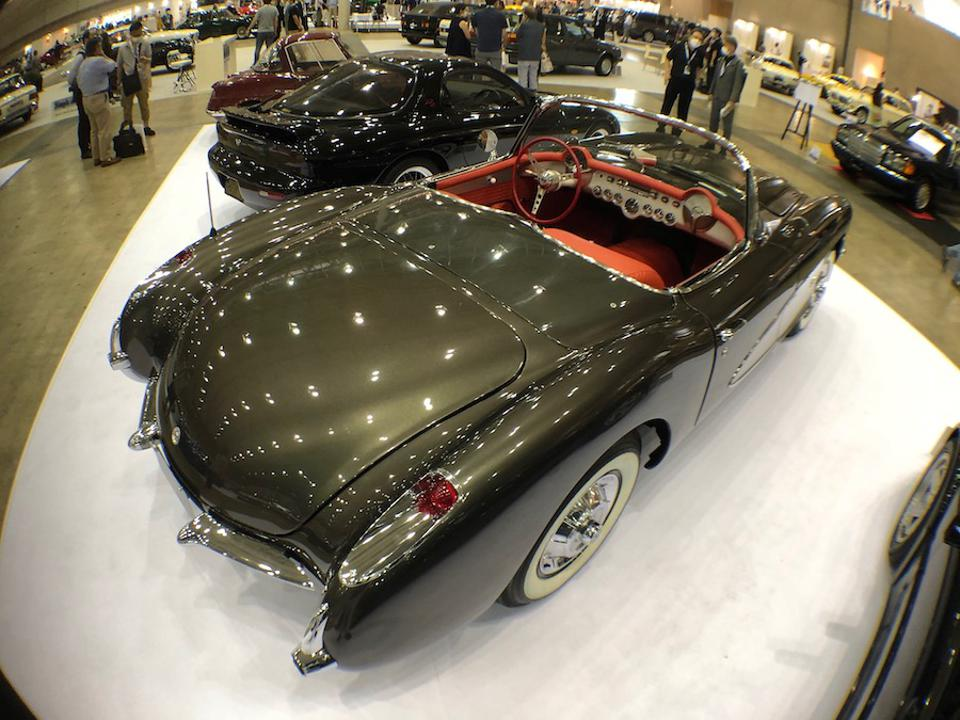 A 1956 Corvette also graced the event floor.