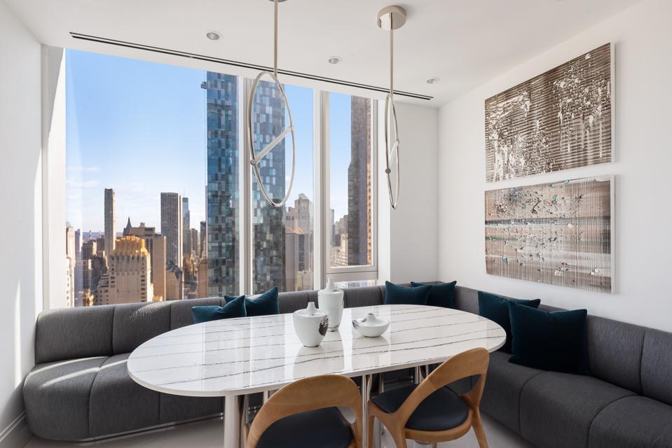 Central Park Tower, breakfast room, Pembrooke & Ives, interior design, New York