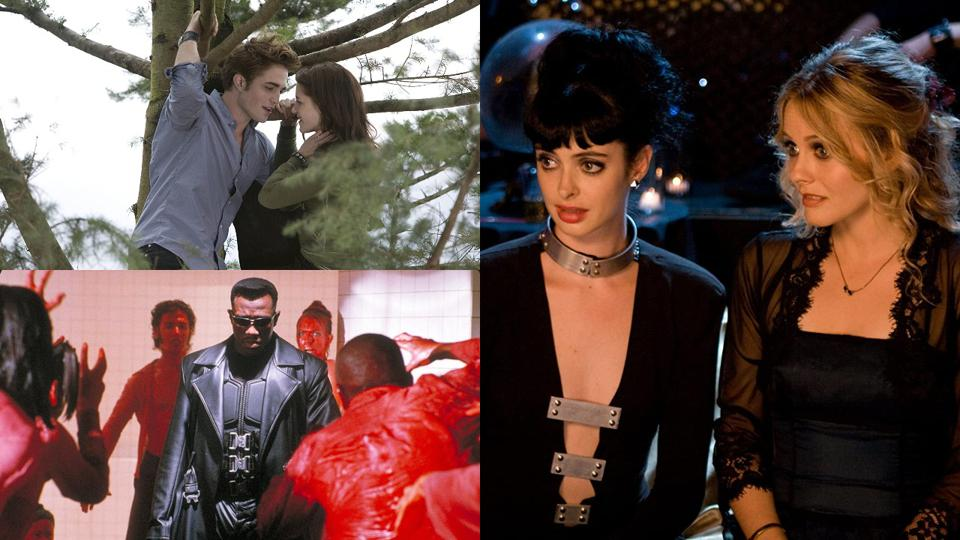 Robert Pattinson and Kristen Stewart in 'Twilight,' Wesley Snipes in 'Blade' and Krysten Ritter and Alicia Silverstone in 'Vamps'