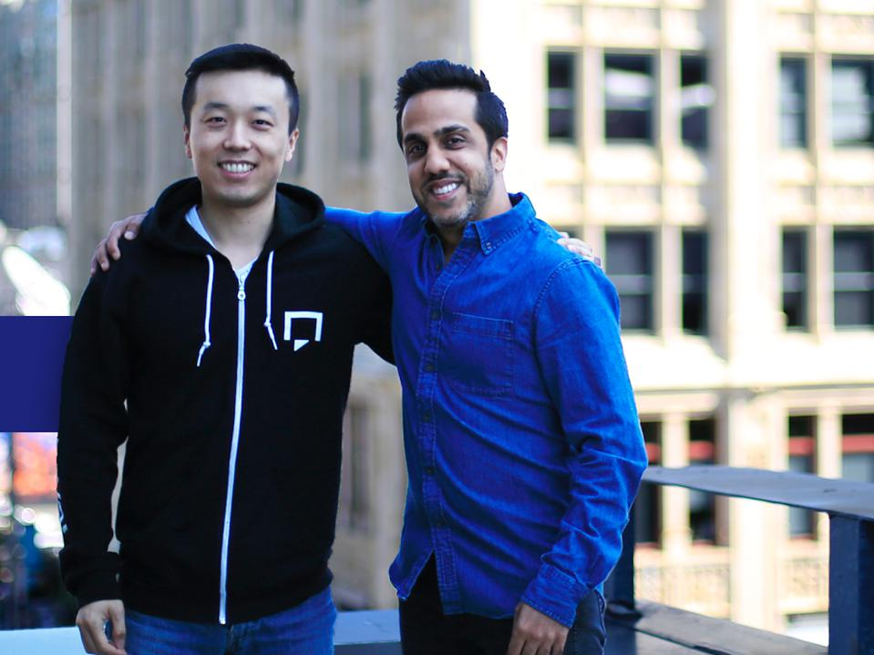 Snaptravel founders Henry Shi and Hussein Fazal
