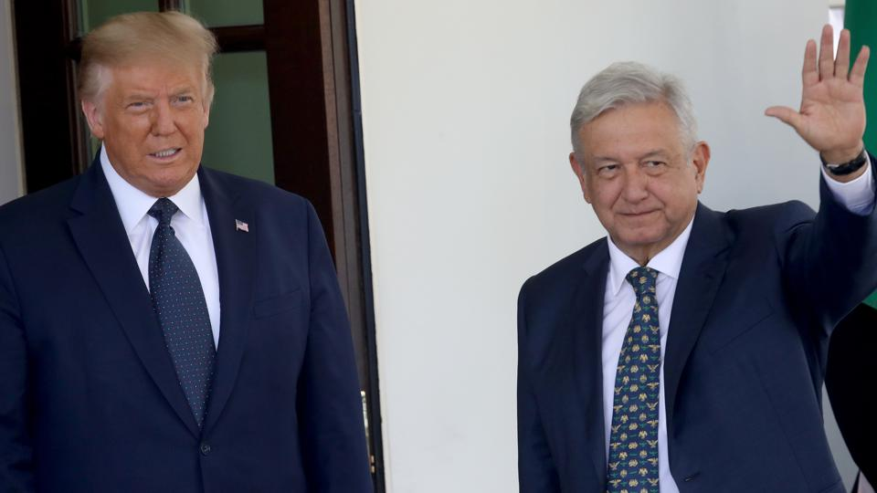 Donald Trump Welcomes Mexican President Andres Manuel Lopez Obrador To The White House