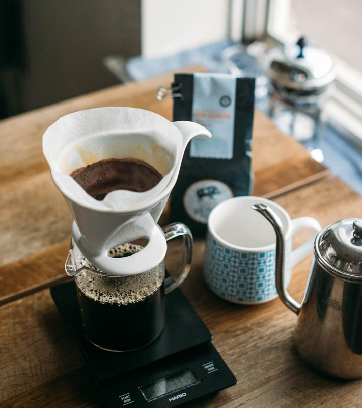 At-home coffee brewing with Big Island Coffee Roasters