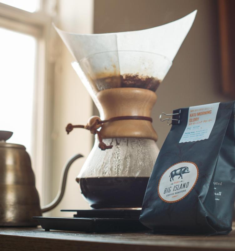 How to use a Chemex by Big Island Coffee Roasters